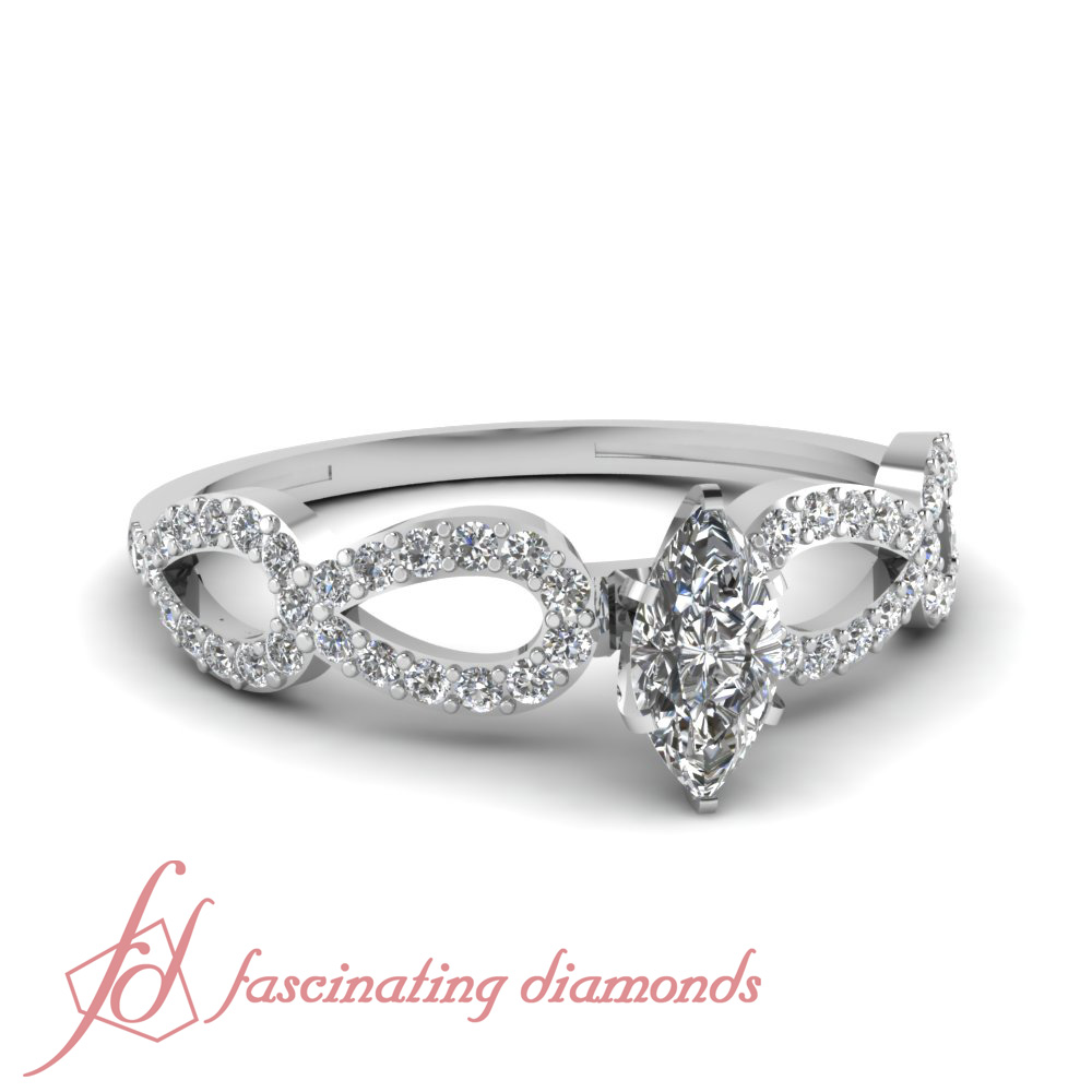 d489e2fe96348 Details about .75 Ct Marquise Cut:Very Good Diamond Infinity Engagement  Ring FLAWLESS-E-Color